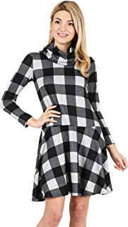 4c88f1ea923 Womens Long Sleeve Winter Cowl Neck Sweater Dress Reg and Plus Size- Made  in USA