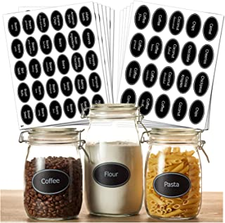 Hayley Cherie - 350 Printed Pantry Label Set - Chalkboard Oval Stickers in Large 3