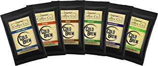Classic Sampler Pack - Flavored Cold Brew Coffee - Inspired Coffee Co. - Coarse Ground Coffee - Six large 4 oz. Sample Bags