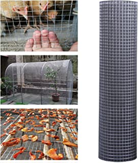 GZHENH Wire Mesh Fencing, Garden Fence Screen waterproof Anti-rust Bendable and Cutting Galvanised Welded Wire Mesh Aviary...