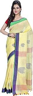SareesofBengal Women's Handloom Pure Bengal Linen Jamdani Saree