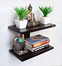 Captiver Hardwood Aai Wall Mounted Shelf Wenge Rack Decorative Display (Standard)