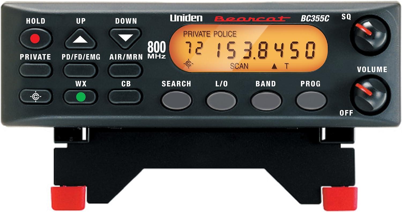 Uniden BC355C 800MHz 300-Channel Base Mobile Scanner (Black) (Discontinued by Manufacturer)