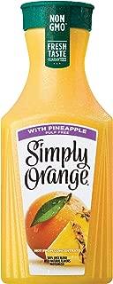 Simply Orange w/ Pineapple, 52 fl oz, 100% Juice Blend, Pulp Free, Orange Juice w/ Pineapple Juice