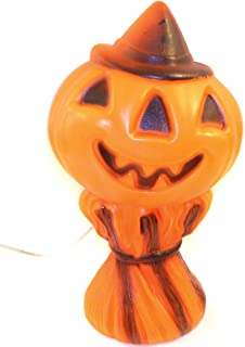 1969 Empire Plastics Jack-O-Lantern Pumpkin Vintage Halloween Blow Mold Decoration