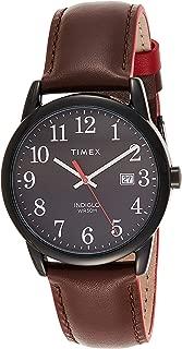 Timex Men's Quartz Watch, Analog Display and Leather Strap TW2R62300