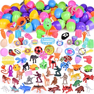 100PCs Easter Egg Stuffers Mini Toys Filled Easter Eggs, Easter Basket Stuffers with Small Toys, Easter Hunt, Easter Egg Fillers, Goodie Bags, Pinata Toys and More