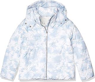 Calvin Klein Women's Polyfill Printed Puffer Jacket, Tie Dye Waterfall Combo, Small