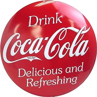 Coca-Cola Button Tin Sign