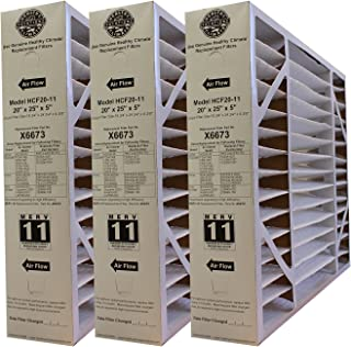 "Lennox Healthy Climate X6673 20x25x5 MERV 11 Filter-Actual Size 20-3/4"" x 24-3/4"" x 4-3/8"" - 3 Pack"