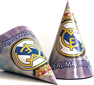 Real Madrid Birthday Party Hats - bag of 10