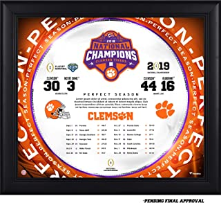 Clemson Tigers College Football Playoff 2018 National Champions Framed 15