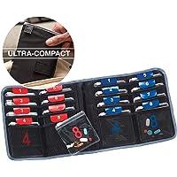 2 Pack Lewis N. Clark AM/PM Folding Pill Organizer + Supplement Case for OTC Medicine, Prescription + Vitamins (Black)