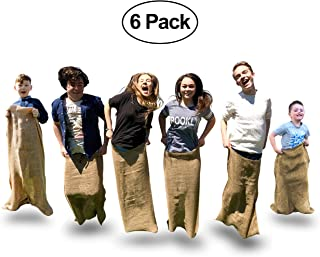 Elite Sportz Potato Sack Race Bags - 6 Quality Sack Race Bags for Kids Birthday Party Games, and Comes With a Compact Bag for Easy Storage. Great Family Games