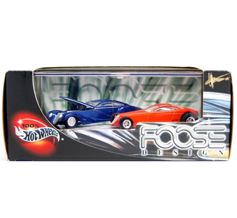 顕著海里謙虚MANHATTAN & HEMISFEAR * Limited Edition * Hot Wheels 2001 FOOSE DESIGN 1:64 Scale 2-Car Custom Vehicle Box Set