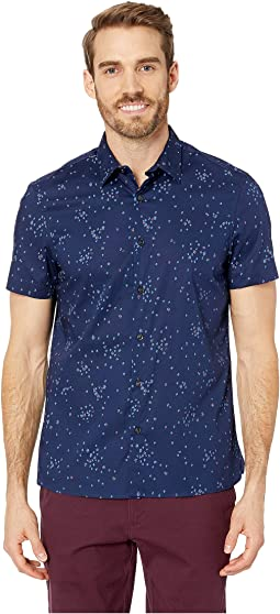 Slim Fit Stretch Dot Print Shirt