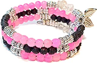 Angelic Blessing Chakra Diffuser Bracelet Pure Healing Crystal Natural Stone Free-Size Wrap Bracelet