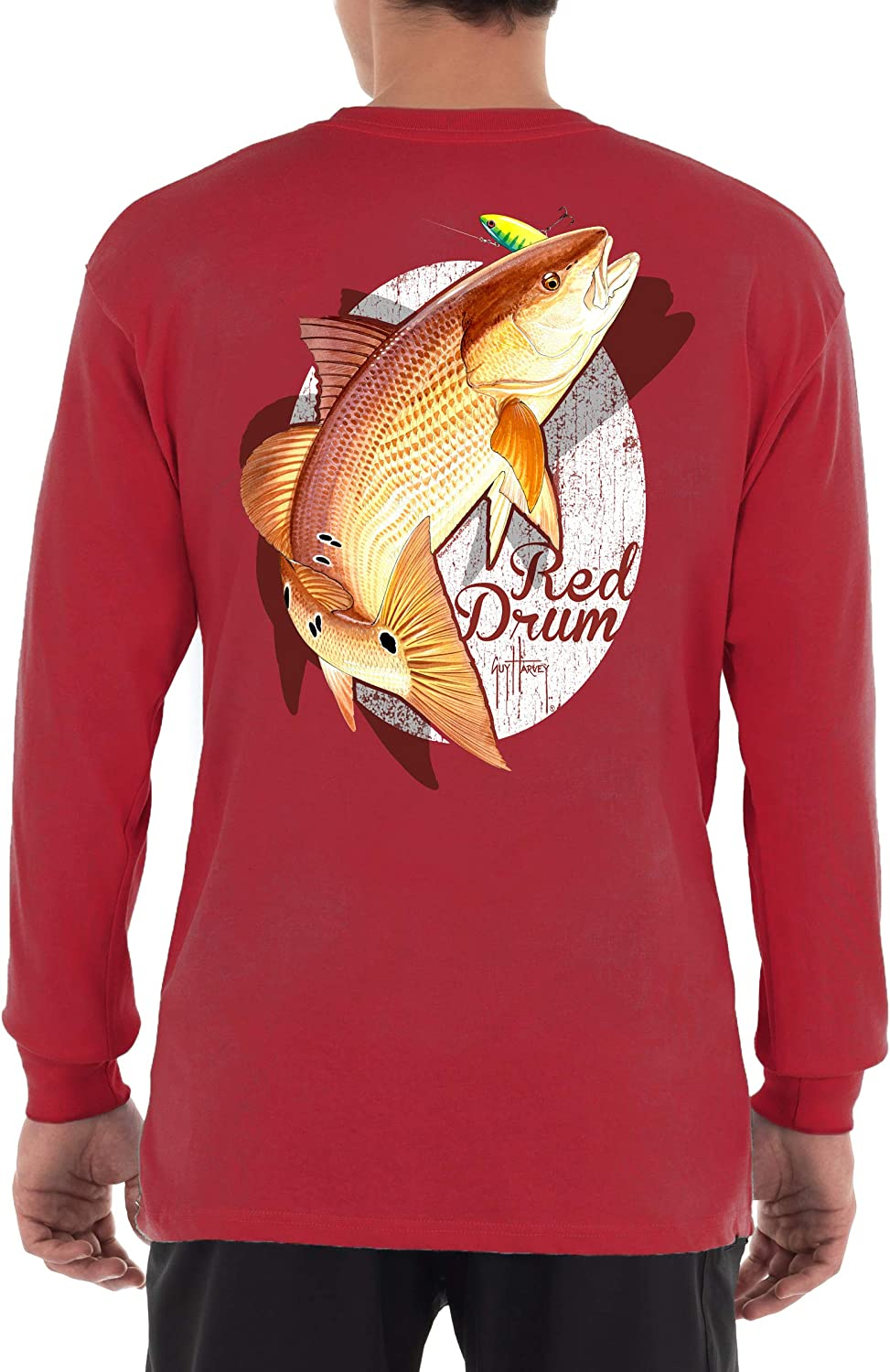 Guy Harvey Max 52% OFF Outlet sale feature Men's Offshore Fish T-Shi Collection Sleeve Long