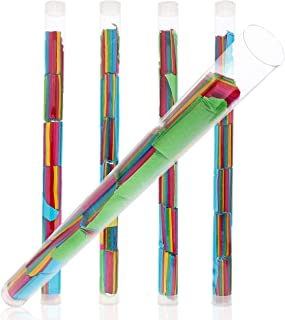 Confetti Wands - 6-Pack Reusable Confetti Flick Sticks, Flutter Tissue Paper Party Supplies, for Wedding, Birthday, Festivals, Multicolored, 14 Inches