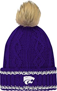 NCAA Girls NCAA Youth Girls Core Furry Pom Cable Knit Hat