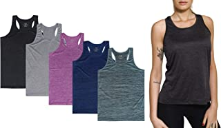 5-Pack Women's Racerback Tank Top Dry-Fit Athletic Performance Yoga Activewear