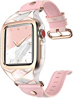 i-Blason Band Designed for Apple Watch 42 mm, [Cosmo] Stylish Sporty Protective Bumper Case with Adjustable Strap Bands for Apple Watch Series 3/2/1 (Marble)