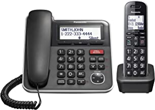 $49 » Panasonic Expandable Corded/Cordless Phone System with Answering Machine and One Touch Call Blocking – 1 Handset - KX-TGB8...