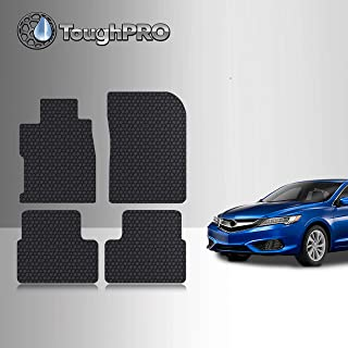 TOUGHPRO Floor Mat Accessories Set (Front Row + 2nd Row) Compatible with Acura ILX - All Weather - Heavy Duty - (Made in USA) - Black Rubber - 2013, 2014, 2015, 2016, 2017, 2018, 2019, 2020, 2021