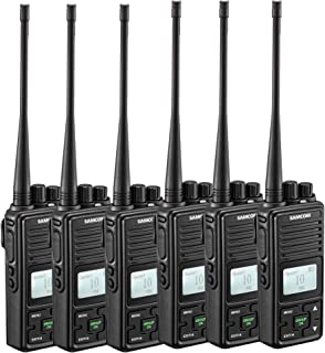 Two Way Radio, SAMCOM FPCN10A Walkie Talkie 20 Channels Wireless Intercom Group Button Portable Business Radio,UHF 400-470MHz, 2 Watt,Earpiece,Belt Clip (Pack of 6)