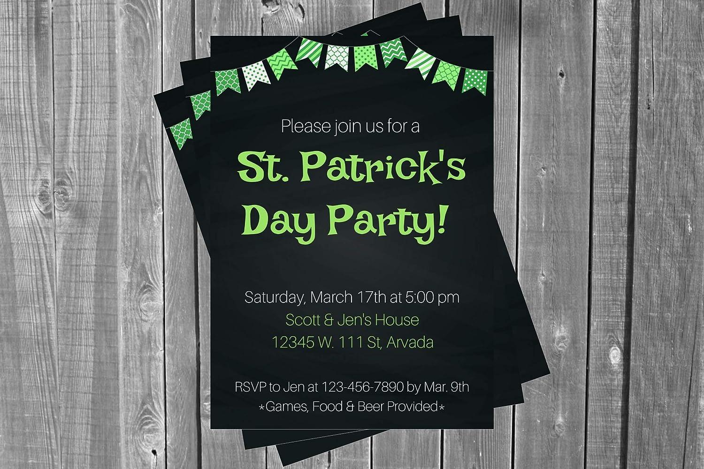 St. Patrick's Free shipping Day Invitation St Beer Invitati Patricks Adult Max 45% OFF