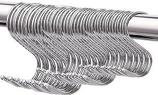Busirde S-Hooks S Haken K/üche K/üchenhaken Metallhaken Edelstahl Multi-Purpose Hooks Hakenset Kleine Haken zum Aufh/ängen Kleiderb/ügel f/ür K/üche Bad Schlafzimmer und B/üro Silber,5 St/ück 9 cm
