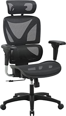 GABRYLLY Ergonomic Office Chair, High-Back Mesh Desk Chair with Lumbar Support