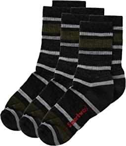 Smartwool Striped Hike Light Crew 3-Pack (Toddler/Little Kid/Big Kid)