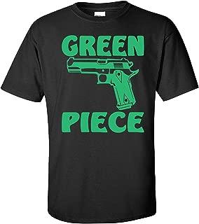 Green Piece Black T Shirt