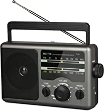 Portabel AM FM Radio Transistor Analog Radio with 3.5mm Earphone Jack ,Operated by 4D Cell Battery or AC Power,High & Low Tone for Hiking,Camping,Outtdoor Activities
