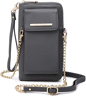 Cellphone Wallet Purse Phone Pouch Wristlet Clutch Crossbody Shoulder Bag - 12 Slots