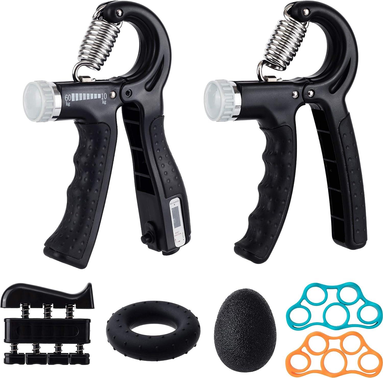 Aseking Hand Grip Exerciser Strength Pack Trainer Kit 7 Finger supreme Sale price