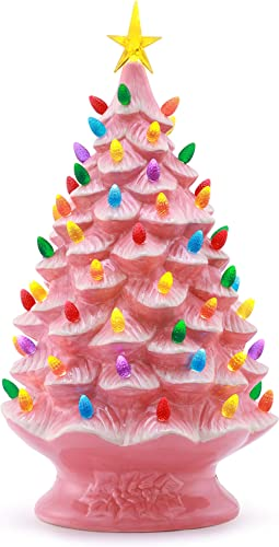 "Mr. Christmas Nostalgic Tree 24""-Pink Christmas Décor, inch"