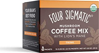 Four Sigmatic Mushroom Instant Coffee, Organic and Fair Trade Instant Coffee with Lions..
