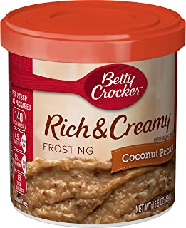 Betty Crocker Frosting, Rich & Creamy Gluten Free Frosting, Coconut Pecan, 15.5 Oz Canister