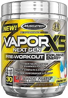 MuscleTech Vapor X5 Next Gen Pre Workout Powder, Explosive Energy Supplement, ICY Rocket Freeze, 30 Servings (9.6oz)