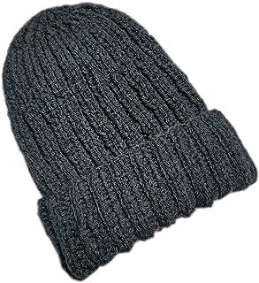 Cappello in lana Uomo. Fatto a maglia. Lavorazione a coste. Cappello Unisex. Donna. Blu. Fatto a Mano. Cappello invernale....