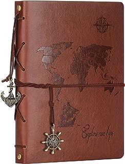 Scrapbook Album,ZEEYUAN Travel Leather Photo Album
