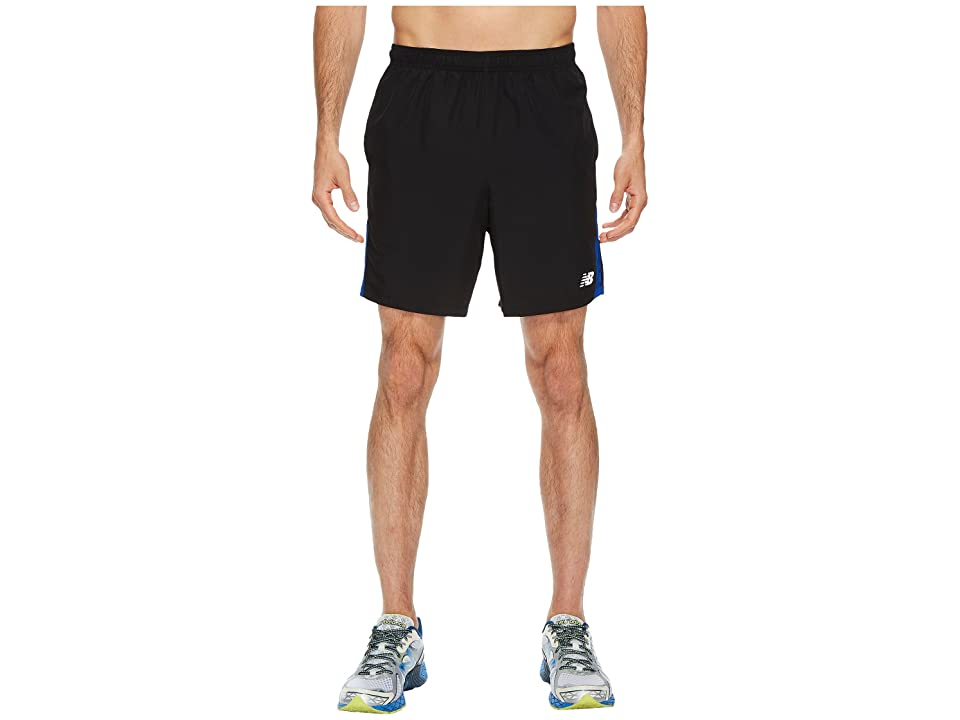 New Balance Accelerate 7 Short w/ Brief (Black/Team Royal) Men
