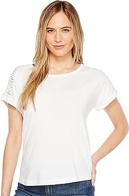 B Collection by Bobeau - Nash Macrame Detail T-Shirt
