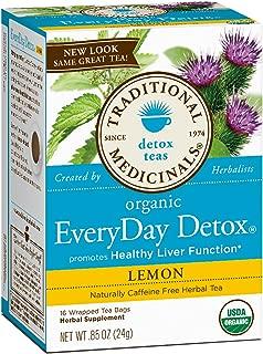 Traditional Medicinals Lemon Everyday detox herbal Tea - 16 ct - 2 pk