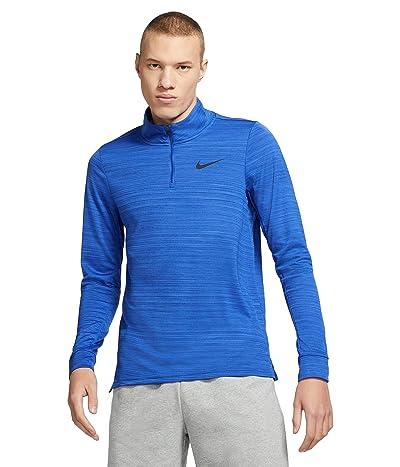 Nike Big Tall Dry Superset Top Long Sleeve 1/4 Zip (Game Royal/Black) Men