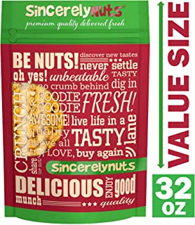 Sincerely Nuts Roasted and Salted Corn Nuts (2 LB) - Vegan, Kosher & Gluten-Free-Corn Kernels - Healthy and Tasty Snack for the Whole Family - Delicious Cracker-Like Treat - Healthy Fats to Fill Up On