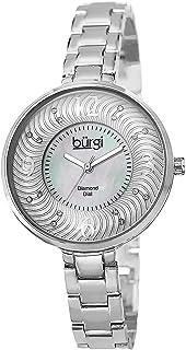 ساعة بورجي للنساء بسوار نحاسي فضي - BUR103SS