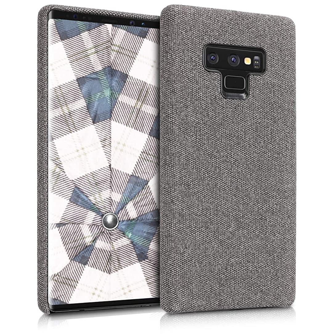 kwmobile TPU Case for Samsung Galaxy Note 9 - TPU and Fabric Smartphone Cell Phone Cover in Canvas Design - Dark Grey